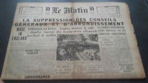 JOURNAL-LE-MATIN-LUNDI-14-OCTOBRE-1940-N-20-655-BE