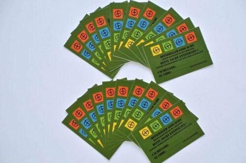 10 x Wasserfeste Aufkleber für Dosen oder Petlinge Geocaching Finderhinweis Stic