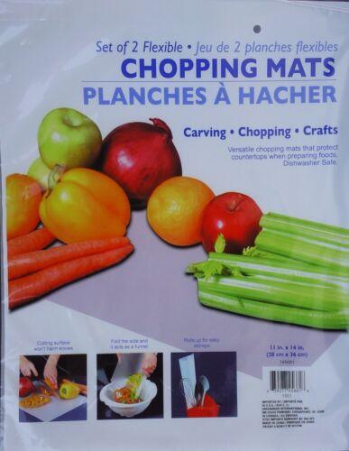 """FLEXIBLE CHOPPING MATS 11/"""" x 14/"""" Food Preparation Cutting Mat Crafts 2 Mats//Pk"""