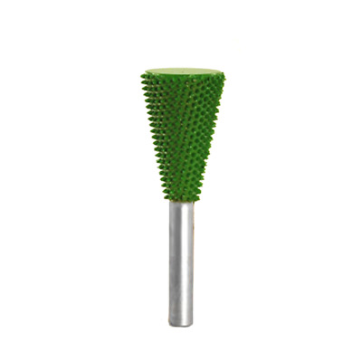 "14DT34SE-70 - 1//4/"" Shank SABURR TOOTH 3//4/"" Dove Tail Burr Bit Coarse Green"