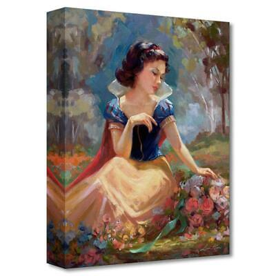 "Disney Fine Art /""Gathering Flowers/"" by Lisa Keene Limited Edition Canvas; COA"