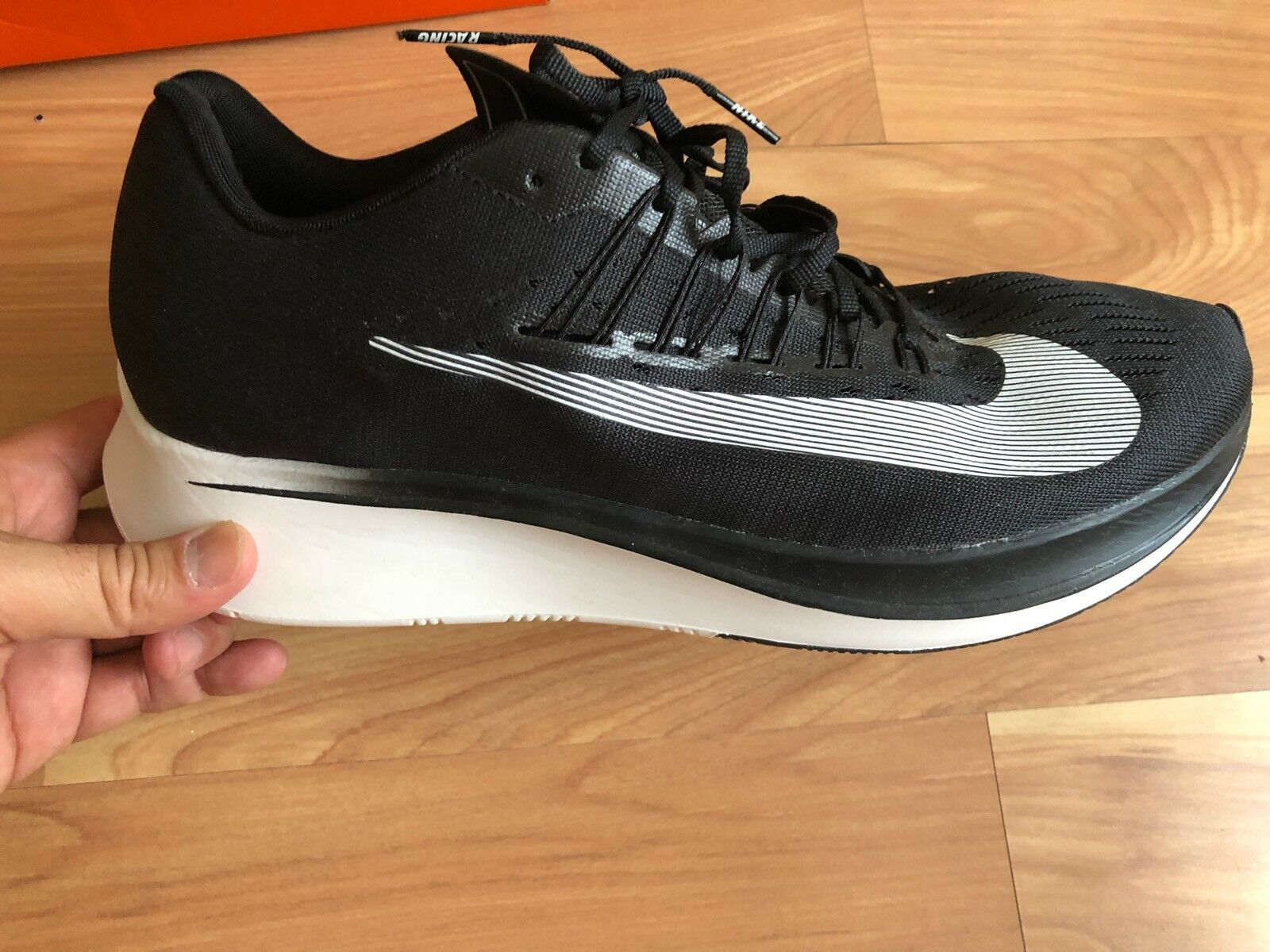 New Nike Air Zoom Fly Black Racer Running shoes 880848-010 Size 12