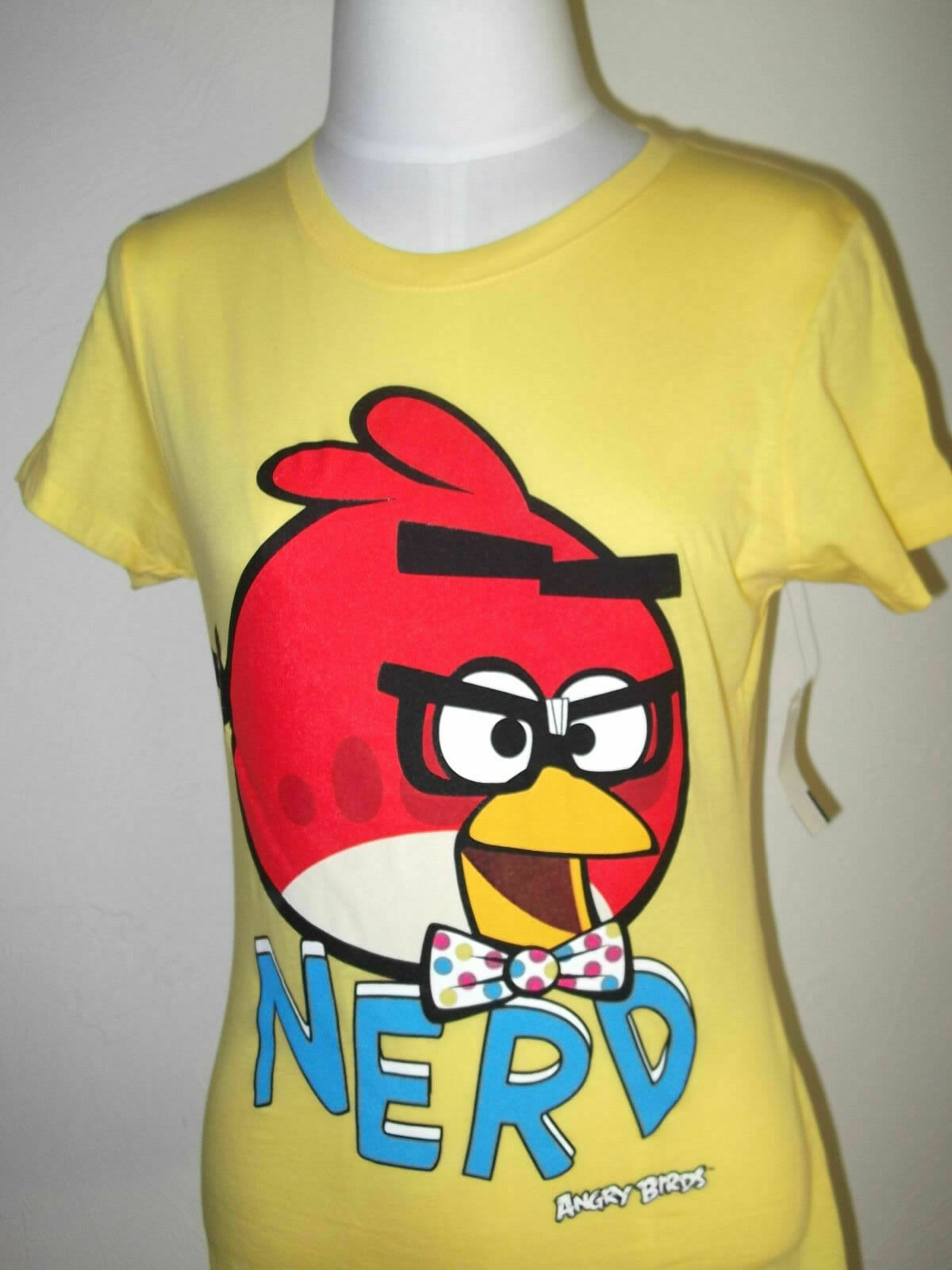 Angry Birds Boys L Too Epic to Fail Red/white Mock Layer Tee Shirt for sale  online