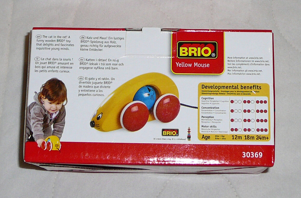 NEW Brio Yellow Mouse Cat Wooden Toy HTF 30369 30369 30369 ae6d13