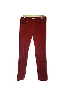 UNIQLO-Size-27-Burnt-Orange-Mid-Rise-Corduroy-Pocket-Tapered-Pants