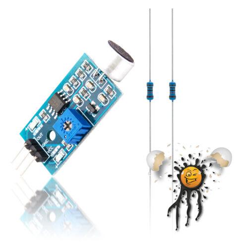 ESP8266 ESP8285 ESP32 Geräusch Sound Sensor Kit 1V ADC adjustable KY-038 repl.