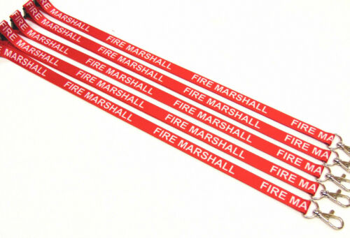 Free UK postage FIRE MARSHAL lanyard 15mm with safety breakaway for ID /& keys
