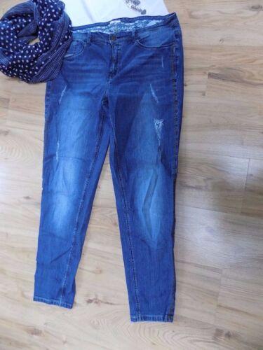 46 und 52 Langgrößen Hose 758 used Look Boyfriend Jeans stretch bequem Gr