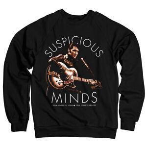 xxl Elvis Felpa Ufficiale Presley S Suspicious Licenza Minds w04PgWqgxF