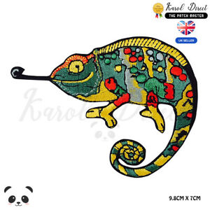 Chameleon-Disney-Embroidered-Iron-On-Sew-On-Patch-Badge-For-Clothes-etc
