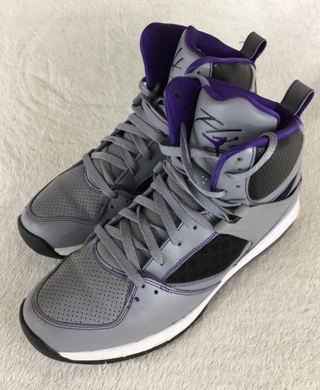 Nike air jordan volo 45 alta corte viola, nero 524866-008 sz max stealth