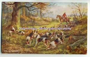an0599-Hunting-the-Shires-Drawing-the-Covert-Artist-U-K-Postcard-Tuck-039-s