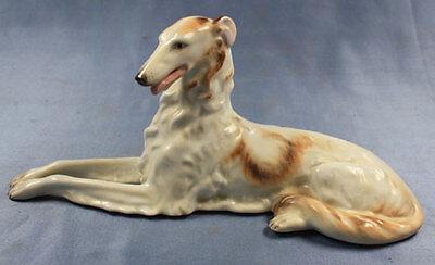 Porzellan barsoi windhund Figur Hund Porzellanfigur Herend hundefigur