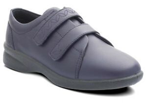 2 Uk Revive Ladies Strap Padders Touch Shoes Navy 6 Size Casual wxYSYHqgF