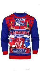 37f4ac61e93 Image is loading NHL-New-York-Rangers-Ugly-3D-Sweater-Mens-