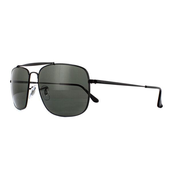 85074cbf55c Ray-Ban Sunglasses The Colonel Rb3560 002 58 Black Green Polarized ...