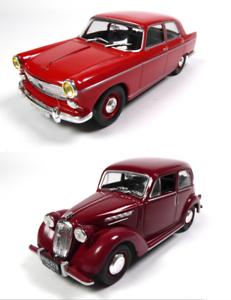 Set of 2 Model Cars Peugeot 404 Simca 8-1:43 IST Diecast LP05