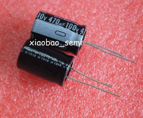 50PCS 470uF 100V Electrolytic Capacitor 105°C 16x25mm