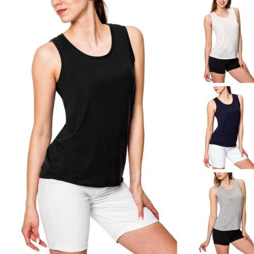 Vero Moda Damen Tank Top Basic O-Neck Jersey Shirt Damentop Sommertop Damenshirt