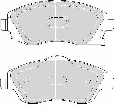 FDB1424-12 Month Warranty! Brand New Ferodo Front Brake Pad