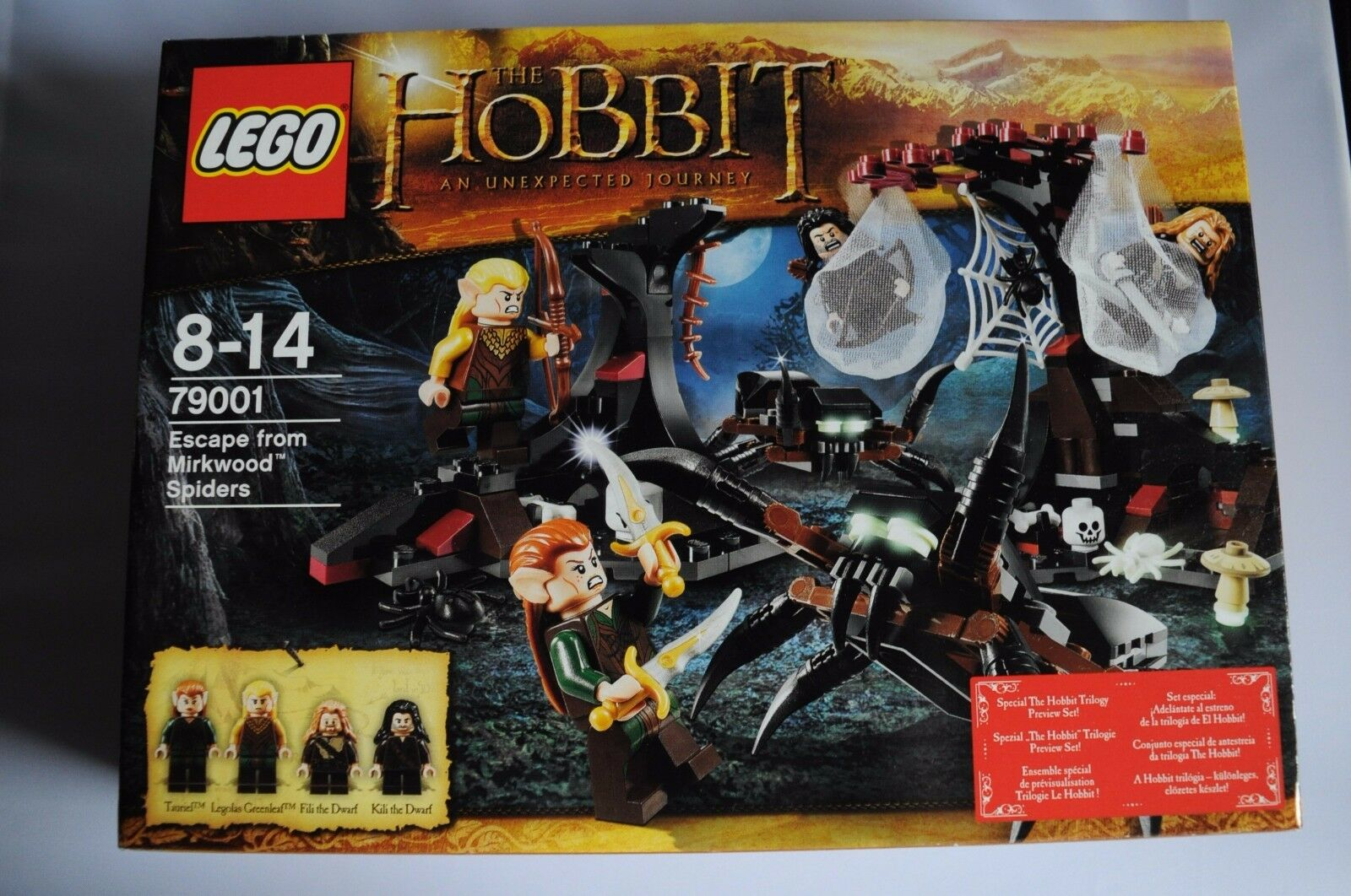 LEGO THE HOBBIT ESCAPE FROM MIRKWOOD SPIDERS BOXED SET SEALED