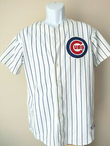 vtg-Chicago-Cubs-12-ALFONSO-SORIANO-YOUTH-pinstripe-Jersey-majestic-XL-mlb