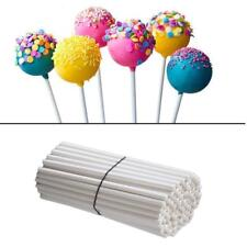 100pc Lollipop Sticks Chocolate Cake Lolly Sucker Making Mold Paper-made