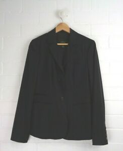 COUNTRY-ROAD-Black-CLassic-Blazer-Jacket-Textured-Pinstripe-Size-12