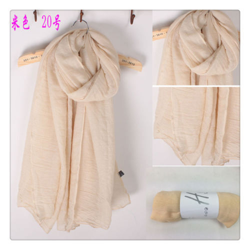 Lady Women/'s Long Soft Cotton Scarf Wrap Shawl Scarves Stole Thicken Autumn