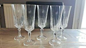 Cristal d'Arques - 5 verre flûtes à champagne modèle Saint Germain ou Versailles