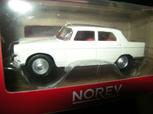1:64 Norev Peugeot 404 1961 Couchevel White//Weiss in OVP