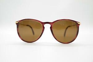 Vintage-Rodenstock-Nick-62-29-Wine-Red-Gold-Oval-Sunglasses-NOS