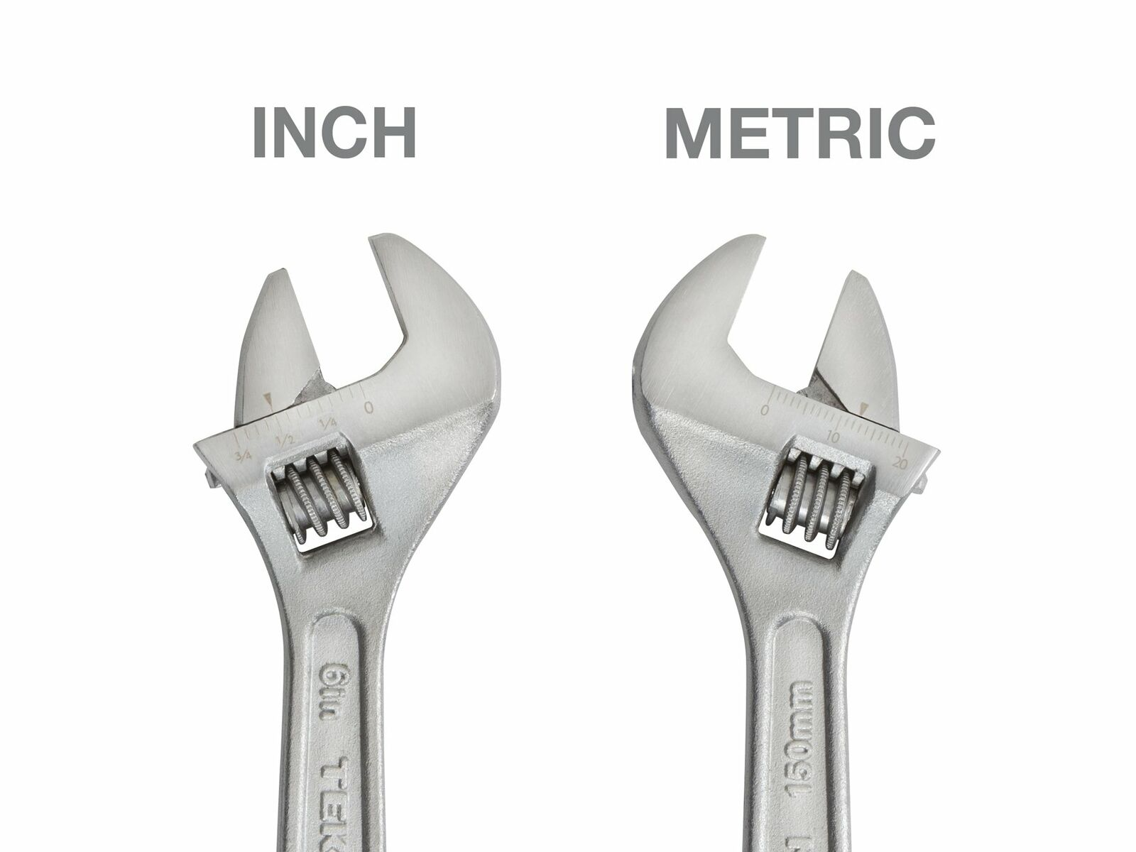 3Pcs Tolsen 6//8//10inch Crescent Adjustable Wrench Set SAE Metric Scale