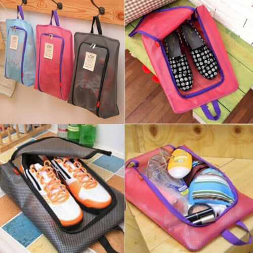 Outdoor Tote Pouch Portable Travel Shoes Storage Zip Waterproof Bag Organizer