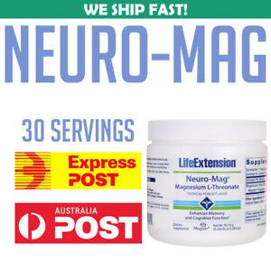 Life-Extension-Neuro-Mag-Magnesium-L-Threonate-Powder-3-293-Ounce-Oz-AU-Stock