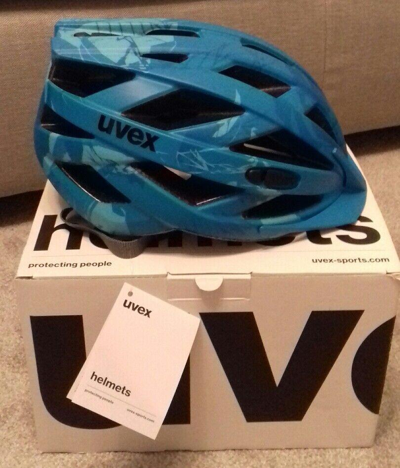 UVEX IVO CC Blu Matt Ciclismo Casco Nuovo di Zecca 5257cm