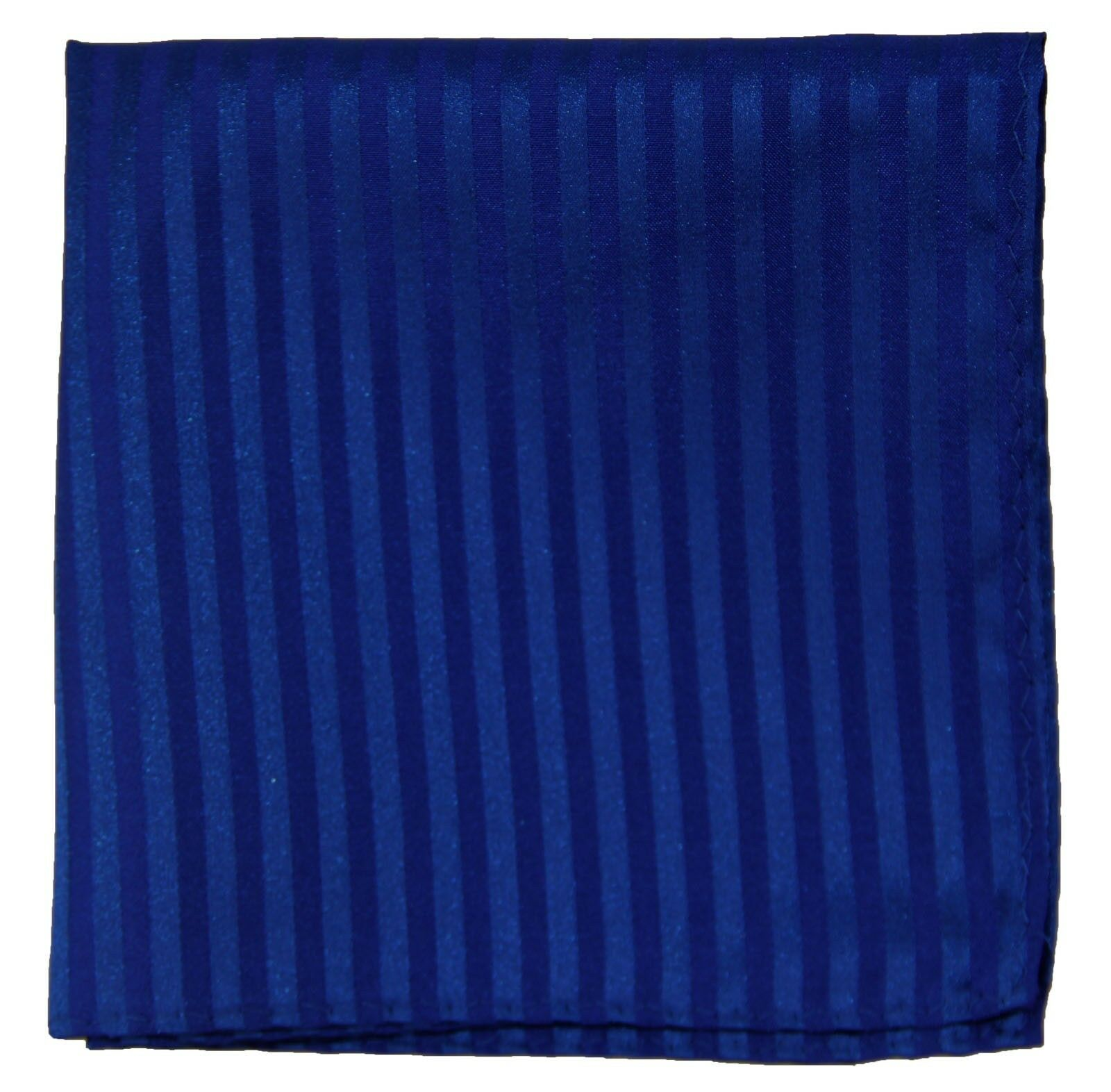 New Men's Polyester Woven pocket square hankie only royal tone on tone stripes