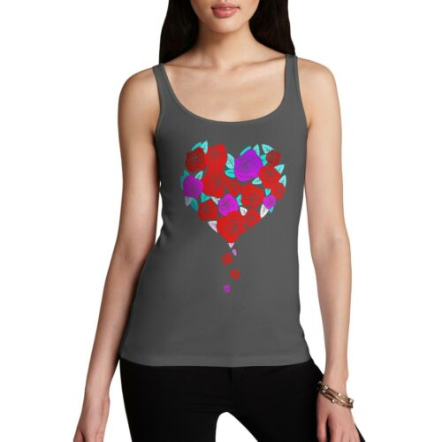 Twisted Envy Roses Love Heart Women/'s Funny Tank Top
