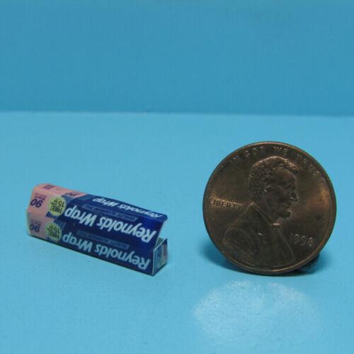 Dollhouse Miniature Replica Box of Reynolds Wrap Aluminum Foil  G100