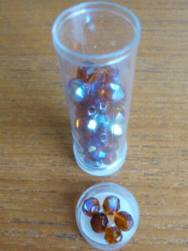 Choose Colour from the List Tube of Gutermann Faceted Glass Beads 4mm or 6mm