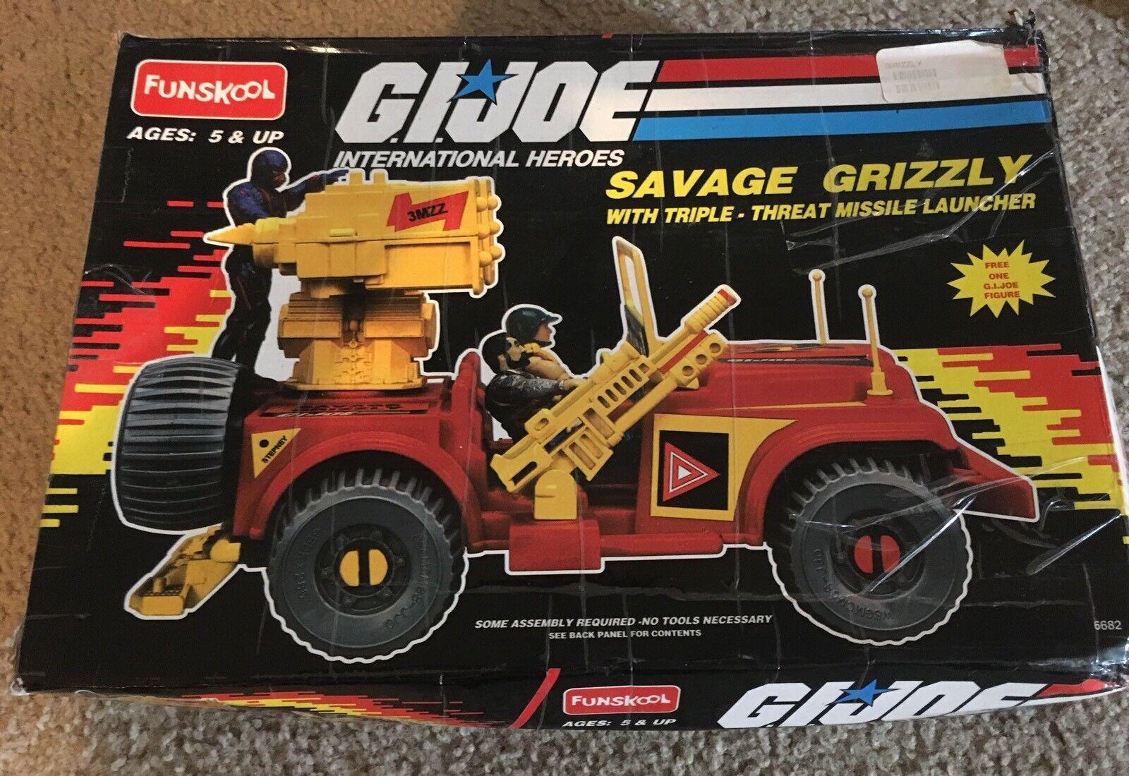 Vintage - gi joe savage grizzly mit dreifache bedrohung raketenwerfer 2000 funskool