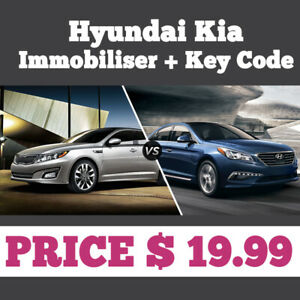 Details about Immobiliser pin key code Hyundai Kia