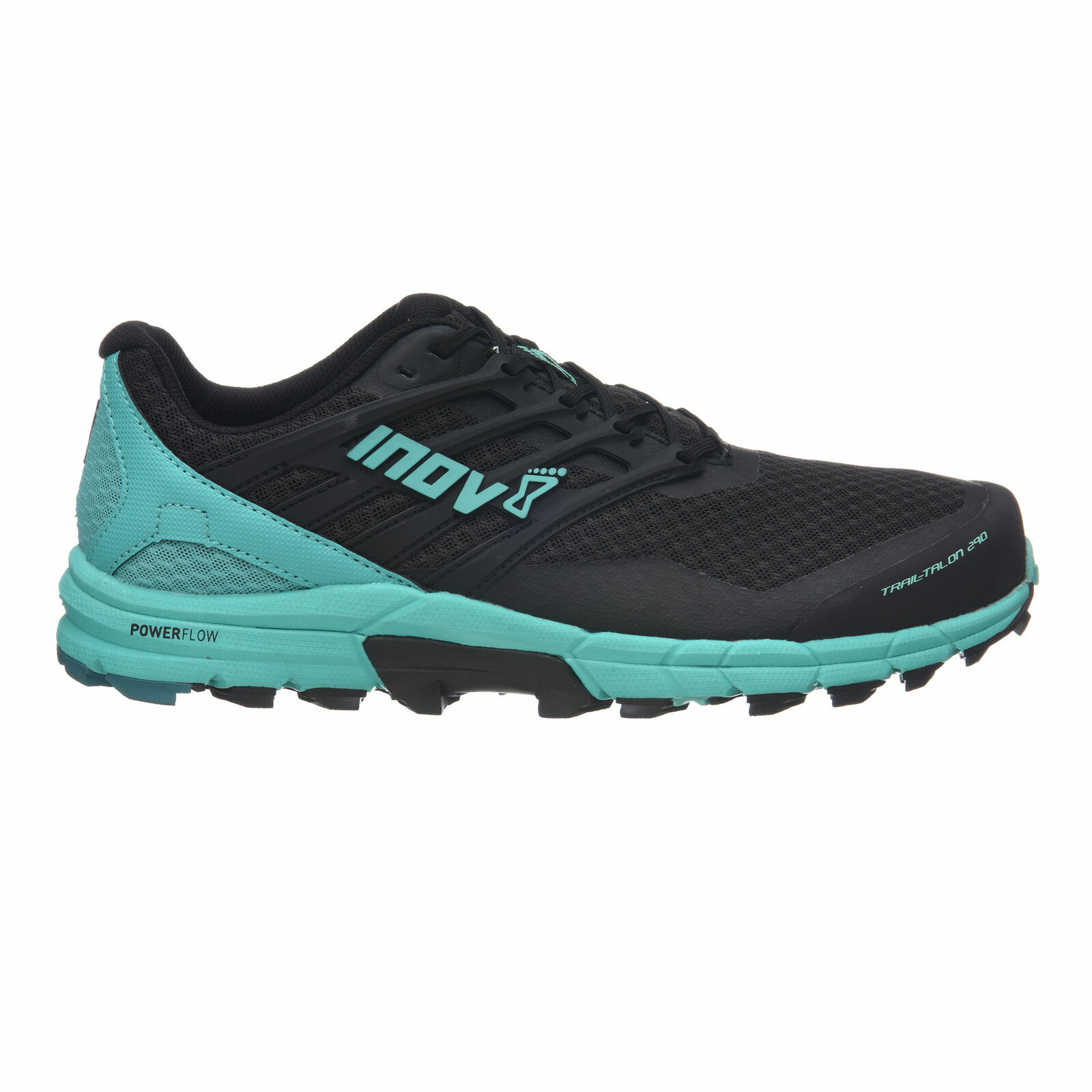 Inov 8 para mujer trailtalon 290 Trail Corriendo zapatos Trainers Negro y verde azulado