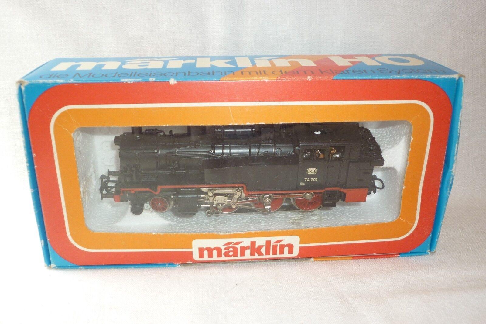 Märklin-traccia h0 - 3095 a vapore locomotiva DB 74 701-SCATOLA ORIGINALE (8.ei-141)
