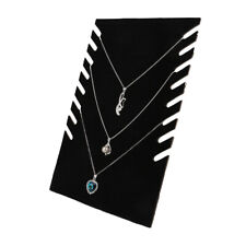 Velvet Jewelry Necklace Pendant Display Stand Rack Holder Organizer Black