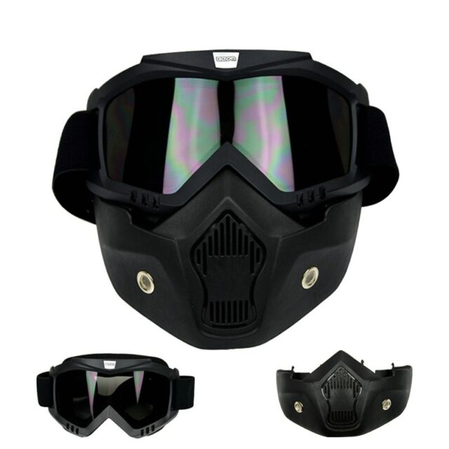 Arrival Detachable Modular Face Mask Shield Goggles Motorcycle Helmet