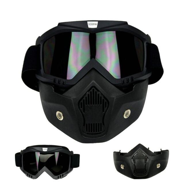 Arrival Detachable Modular Face Mask Shield Goggles Motorcycle Helmet