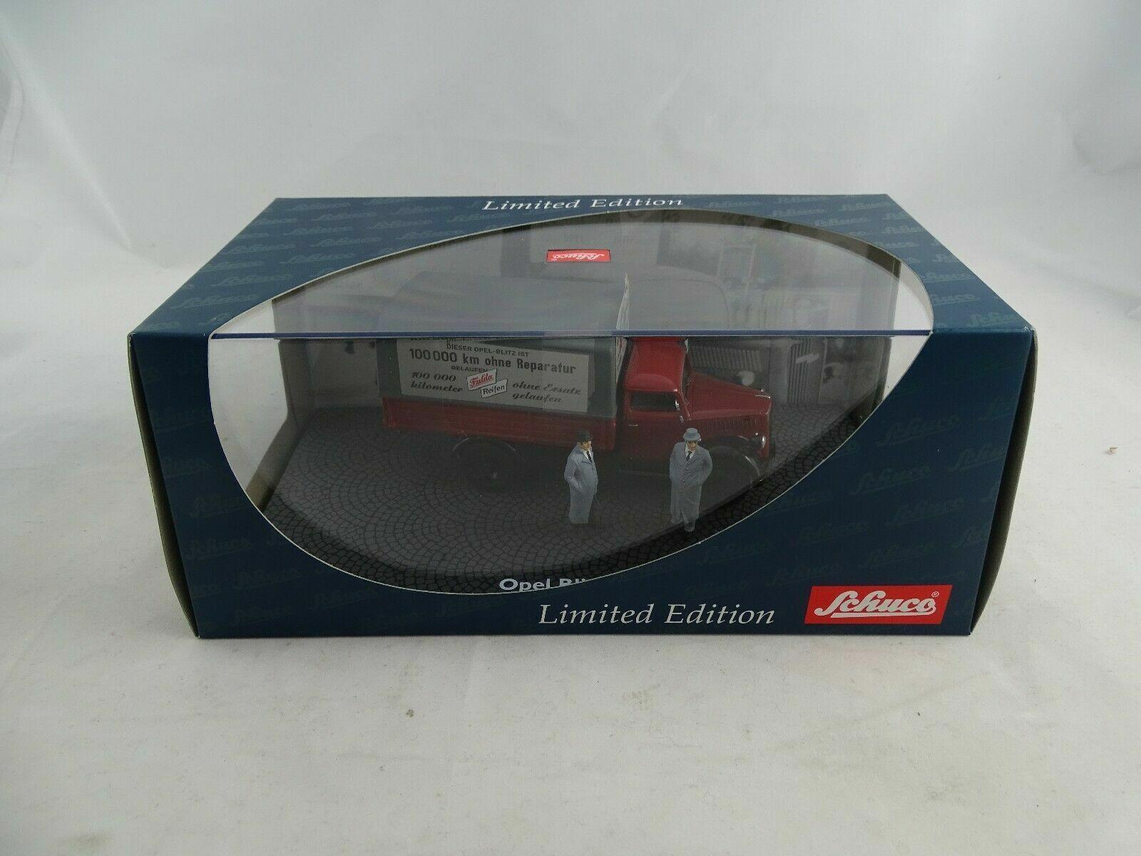 1 43 Schuco 03064 OPEL BLITZ S 3 T FULDA Pneus avec 2 personnages Limited Edition Rar