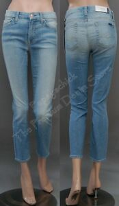 215 NWT 7 SEVEN FOR ALL MANKIND JEANS KIMMIE SKINNY CROP LIGHT SKY ... 34617db69