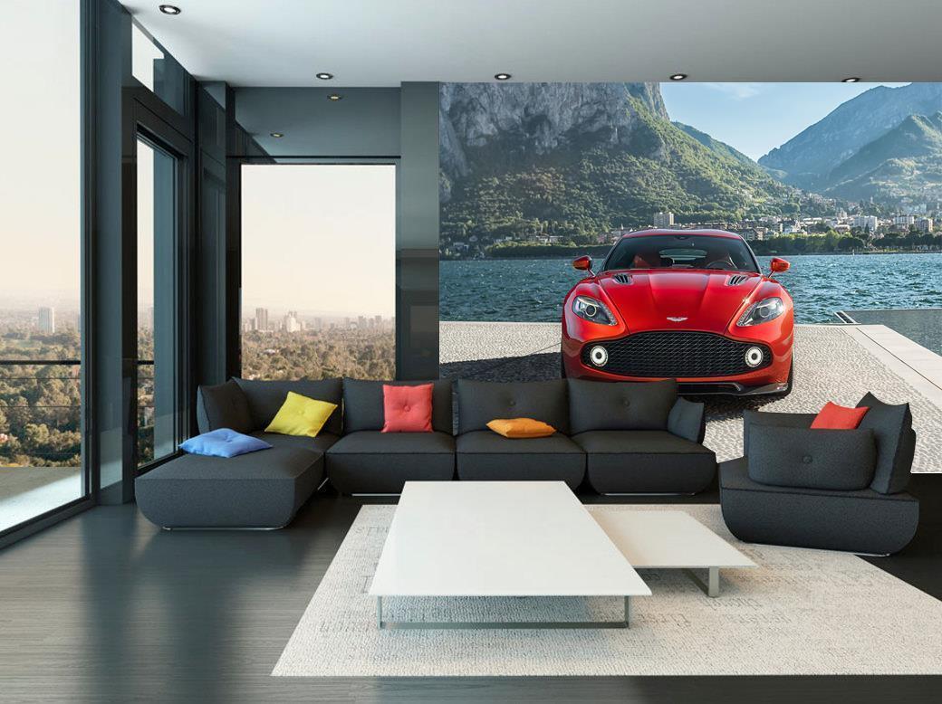 Photo Wallpaper Wall Mural Woven Self-Adhesive Art Aston Martin Sports Car M35
